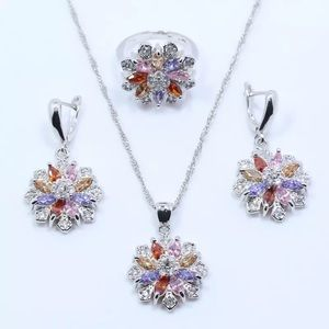 Set earrings necklace and ring size 8